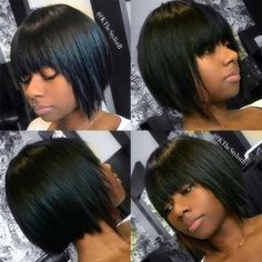 55 Incredible Short & Haircuts With Bangs Hairs short bob hairstyles with bangs - Bob Hairstyles Short Haircuts With Bangs, Bob Haircut With Bangs, Choppy Bob Hairstyles, Lob Haircut, Short Hair Cuts, Short Hair Styles, Black Hairstyles, Pixie Cuts, Easy Hairstyles