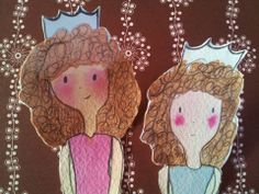 Paper doll princesses Gingerbread Cookies, Paper Dolls, Princesses, Ginger Cookies, Paper Puppets, Princess