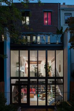 Bold colors defining playful Brooklyn Brownstone