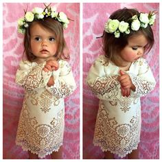 A personal favorite from my Etsy shop https://www.etsy.com/listing/269538491/boho-flower-girl-dress-bell-sleeve