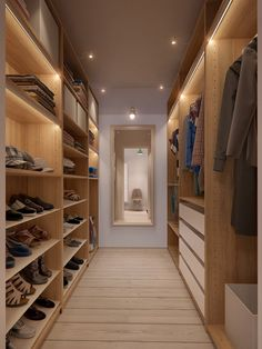 walk-in closet design for apartment Walk In Closet Design, Wardrobe Design, Closet Designs, Closet Walk-in, Closet Bedroom, Closet Ideas, Bedroom 2018, Bedroom Storage, Master Bedroom
