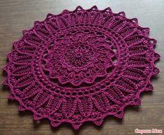 Crochet Mat, Crochet Carpet, Crochet Rug Patterns, Crochet Potholders, Crochet Mandala, Doily Patterns, Thread Crochet, Free Crochet, Lace Doilies