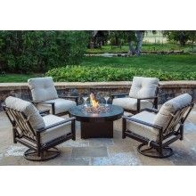 Outdoor Fire Pit Chat Sets Gas Tables With Seating