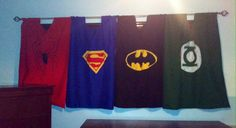 My mom made these super hero curtains. And my son loves them!