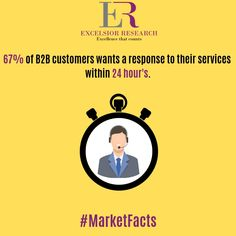 """B2B customers want a quick response for their service-related quires."" #marketfacts #excelsiorresearch #b2b #b2bsales #b2breviews #b2bmarketplace #b2bmarketers #b2bleads #b2bservice"