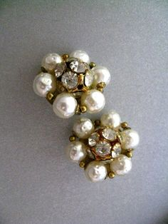 1950's clip on earrings.....reminds me of my Grandmother!