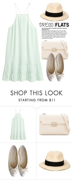 """Dress and Flats 1743"" by boxthoughts ❤ liked on Polyvore featuring Chanel and Eugenia Kim"