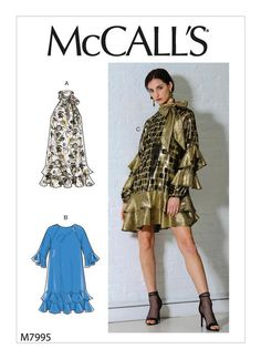 McCall's Sewing Pattern Misses' Dresses Stylish Dresses, Simple Dresses, Short Dresses, Patron Butterick, Mccalls Sewing Patterns, Vogue Dress Patterns, Miss Dress, Contrast Collar, Fall Trends