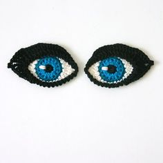 Crochet Eyes PATTERN applique / motif for par TheCurioCraftsRoom
