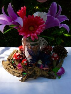 Fairy Party table centrepiece