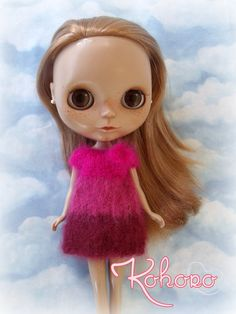 Blythe Mohair Dress Ombré by kokorogumis on Etsy, $17.00