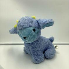 """Pm Mp International Blue Lamb Sheep Plush Stuffed Animal 9"""" Sherpa #PMInternational"""