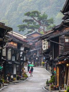 【道 路 Way】 Japan's Nakasendo Walk. Photography by Kevin Kelly. The Nakasendo is an old road in Japan that connects Kyoto to Tokyo - it was once a major foot highway. Places Around The World, Oh The Places You'll Go, Places To Travel, Places To Visit, Around The Worlds, Travel Destinations, Beautiful World, Beautiful Places, Amazing Places