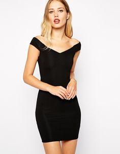 Warehouse Bardot Body-Conscious Dress