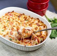 Twenty Minute Tortellini Bake - little effort for a delicious meal. #Italian #casserole #recipe