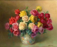 Julien Stappers | Still life with Flowers painter | Tutt'Art@ | Pittura * Scultura * Poesia * Musica |