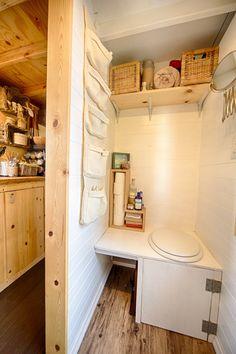 Bathroom - the tiny tack house tiny house plans, tiny house on wheels Tiny House Bathroom, Dream Bathrooms, Tiny House Plans, Tiny House On Wheels, Toilette Design, Small Toilet, Composting Toilet, Tiny House Movement, Tiny Spaces