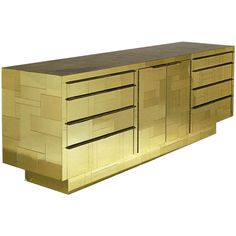 > Furniture > Case Pieces and Storage > Credenzas A Paul Evans Gold Cityscape Console, USA, c.1972