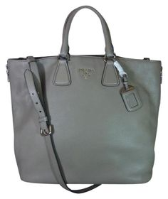 d05d98c8c0b6 Prada Leather Vitello Phenix Side Zip Gray Tote Bag. Get one of the hottest  styles