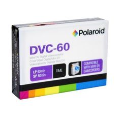 Polaroid PRDVC600000 60-Minute Mini DV Digital Videocassette by Polaroid. $9.99. The Polaroid PRDVC600000 60-Minute Mini DV Digital Videocassette offers a recording storage capability of up to 90-minutes in EP mode or 60-minutes in SP mode (per tape) for DV camcorders. This digital video format is capable of providing more precise detail and accurate color than ever thought possible with any analog camcorder format. A mini DV videocassette can be used for video editin...