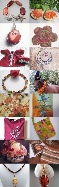 """See my Semi-Precious Red Jasper Bracelet with Ivory and White Rice Pearls, Swarovski Topaz AB Crystals, Czech AB Topaz Crystals, SP Decorative Flower Beads and SP Decorative Leaf Toggle in a STATTeam Autumn PRomotional Blog Treasury, """"Black Cats,"""" by Crystal Wooldridge on Etsy--Pinned with TreasuryPin.com The direct link to my Bracelet is: https://www.etsy.com/listing/205477834/red-jasper-ivory-pearls-topaz-crystal?ref=tre-2727891616-4 Thanks, Eloise ***AdonrmentsByEloise***"""