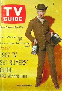 People called televisions T.V. Sets ! Sept. 17-23, 1967 — Joey Heatherton on T.V. Guide