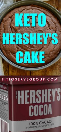 Keto Hershey's Cake-Do you know that Hershey's cake stands on the back of the Hershey Cocoa Powder Box? Well, I missed this simple cake when I made keto. So I did a low carb transformation and now there is a keto option for this classic chocolate cake. Hershey Cake, Hershey Chocolate Cakes, Low Carb Chocolate Cake, Chocolate Chocolate, Hershey Cocoa, Keto Cake, Low Carb Sweets, Low Carb Desserts, Low Carb Cakes