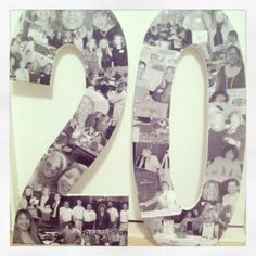 Overlapping black & white photo collage. Custom by MatchPointGifts, $30.99