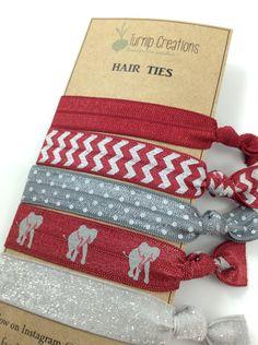 Alabama Hair Ties FOE Hair Ties Crimson & Gray Hair by turniptots