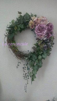 peonies and ivy on grapevine Deco Floral, Arte Floral, Wreath Crafts, Diy Wreath, Funeral Flowers, Wedding Flowers, How To Preserve Flowers, Summer Wreath, How To Make Wreaths