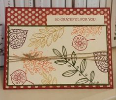 Windy's Wonderful Creations, Stampin' Up!, Lighthearted Leaves, Leaflets dies, Farmers Market DSP