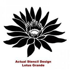 stencils of lotus flower - Google Search