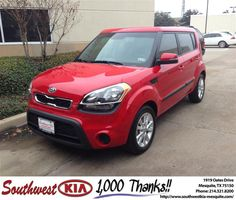 #HappyAnniversary to Frank Reyes on your 2013 #Kia #Soul from Clinton Miller at Southwest Kia Mesquite!