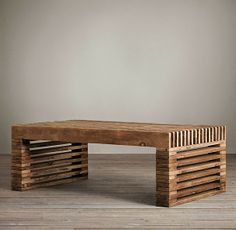 Nine Red: How To: Modern Timber Slat Coffee Table