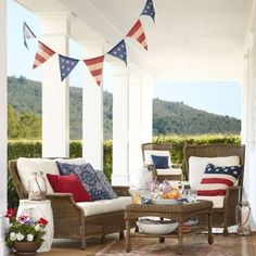 Deck out your porch with a festive banner. ($29.50, potterybarn.com)