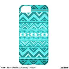 Mint - Aztec iPhone 5C Case