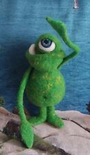 Monster Toy, Needle Felted Wool Monster, Handmade Monster Large Cyclops