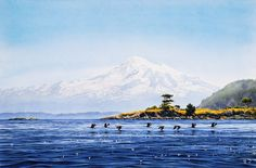 """Mount Baker"" by Carol Evans, watercolour art 