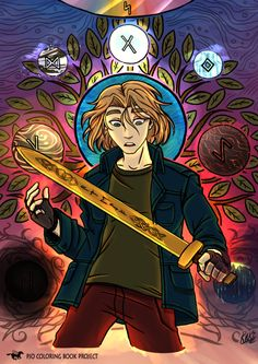Magnus Chase, Sword of Summer (Fanart) Magnus Chase, Rick Riordan Series, Rick Riordan Books, Percy Jackson Art, Percy Jackson Fandom, Norse Mythology, Greek Mythology, Slytherin, The Kane Chronicles