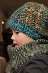 Knit the lovely Crossroads Hat by Elena Nodel in warm & wonderful elann.com Soft Embrace DK.