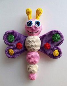 Crochet Schmetterling Babyrassel - kostenlos Muster
