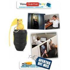 Un original reloj despertador con forma de granada de ultrasonidos con el que no te podrás resistir el levantarte de la cama.   sólo tienes que tirar de la anilla de esta granada  y tirarla a su cama, esperando el chillido!  El perezoso o la perezosa tendrá que encontrar la anilla de la granada y volver a insertarla en la Granada! No es un reloj, sólo una alarma. http://www.yougamebay.com/es/product/despertador-alarma-sonic-en-forma-de-granada-de-mano-con-ultrasonidos