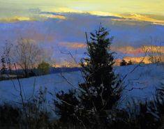 Peter Fiore Lone Pine, Winter oil/linen, 24x30