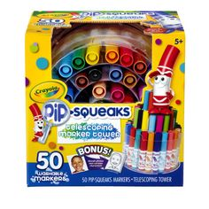 <div>With a wide range of vibrant colors, this Crayola Pip-Squeaks Telescoping Marker Tower give...