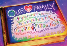 """""""Our Love Family"""" by Loretta Angelica, Woonsocket, Rhode Island, 2013 Embracing Our Differences Exhibit, via embracingourdifferences.org"""