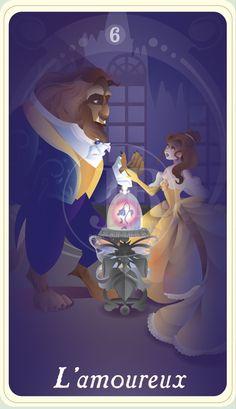 {The Princess Tarot} 'L'amoureux: Belle and Beast' by suisei-ojii-sama.deviantart.com on @DeviantArt