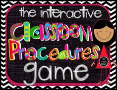 Click here to read about a fun way to teach classroom procedures whether it's the first month of school or a refresher course in the spring!