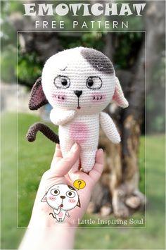 L'EMOTICHAT :) Nouveau modèle gratuit au crochet