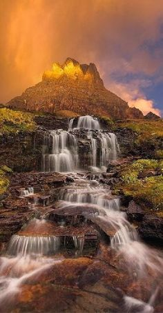 Dawn Waterfall, Clements Mountain, Montana