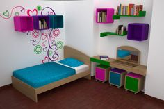 Recursos para cambiar de habitación: de niños a adolescentes – Deco Ideas Hogar Cute Kids Photography, Industrial Design, Toddler Bed, Sofa, Bedroom, Furniture, Home Decor, Kids Rooms, Ideas Para